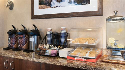 Lobby Beverages and Snacks