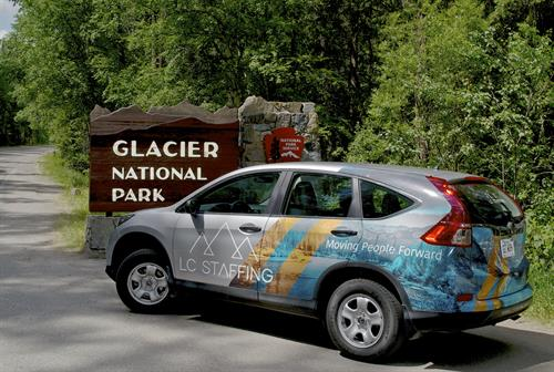 LC Staffing's Kalispell team help Glacier National Park with their uptick in tourist visits