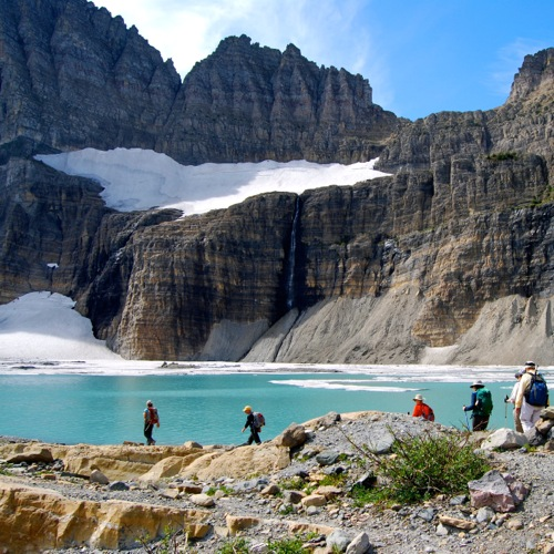 Take a guided day hike with Glacier Guides and learn about the park.
