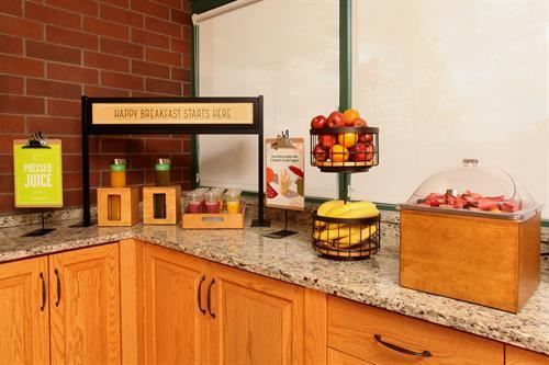Enjoy smoothies and fresh fruit