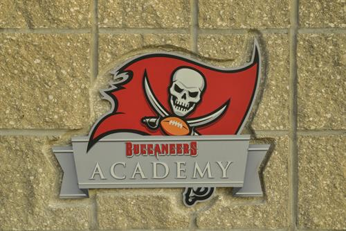 Buccaneers Academy plaque