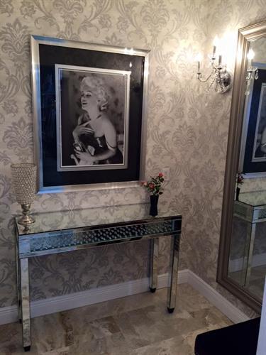 Glamorous dressing rooms