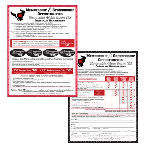 Bloomingdale Senior High School, Valrico, FL - sponsorship form