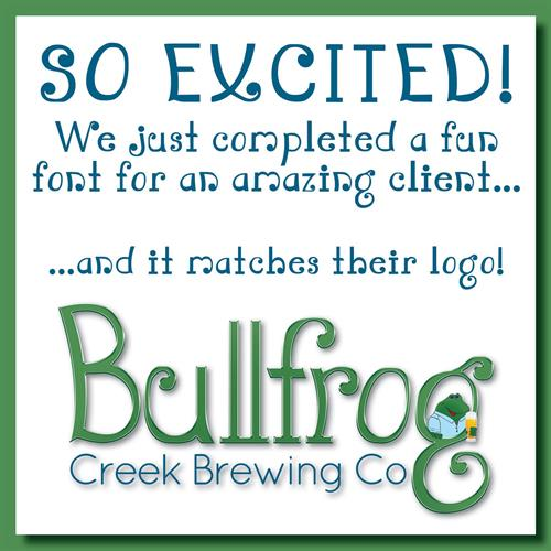Bullfrog Creek Brewing Company, Valrico, FL - hand drawn font design