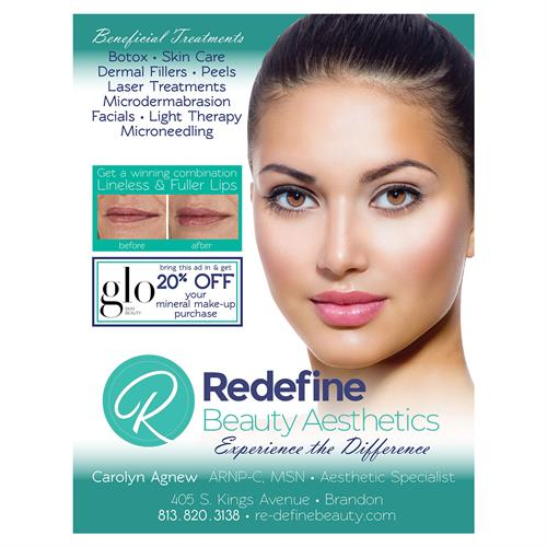 Redefine Beauty Aesthetics, Brandon, FL - program advertisement
