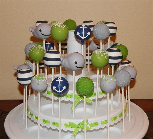 Nautical Baby Shower Pops