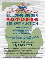 Michigan Crossroads Council, BSA Hosts ''Building Bigger Futures'' Virtual Auction