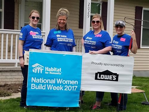 Volunteering for Habitat for Humanity