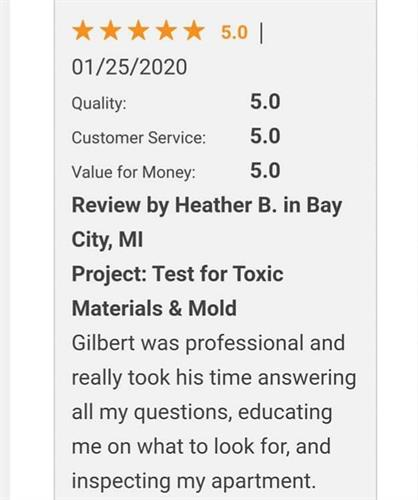 Review / Mold Inspection