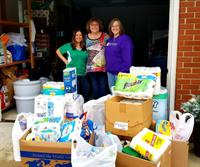 United Financial Credit Union Collects items for Toni and Trish House