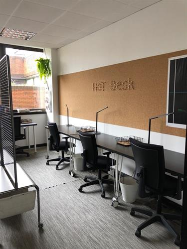 Hot desk, Co-working area