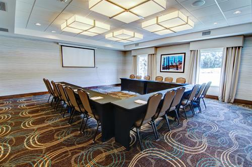 One of our 2 meeting rooms.  This is our Main meeting room.  We also offer a Boardoom