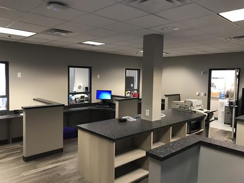 Finished office area remodel in industrial facility