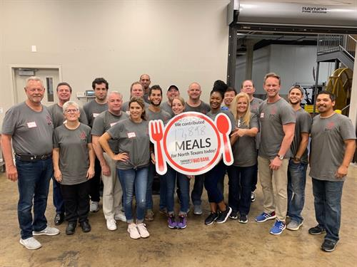 Serving at the Tarrant Area Food Bank