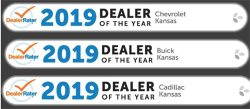 7 Years Running Dealer Rater Dealer of the Year for Chevrolet, Buick and Cadillac