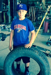 Zach growing up in the tire business