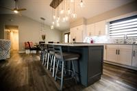 Whole Room Make-Over with Modern Kitchen and Custom Light Fixture, Abilene