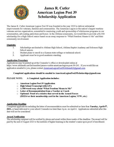 College Scholarship by American Legion Post 39_Page_1