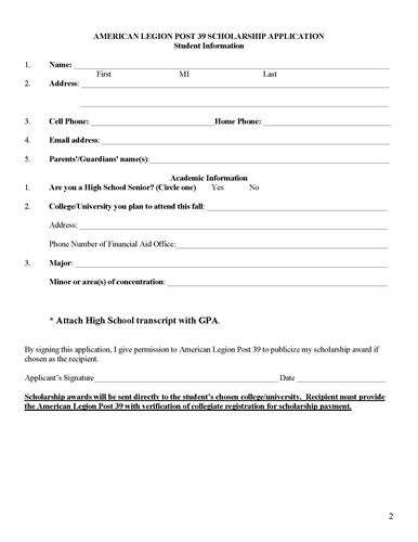 College Scholarship by American Legion Post 39_Page_2
