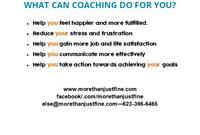 Coaching benefits.