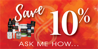 Contact me on how to save 10% on your purchase!