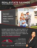 Raquel Riturban Real Estate of My Home Group offers Real Estate Savings to Heroes 602-888-6618