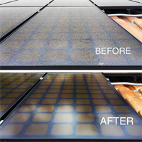 Solar panel cleaning could save up to 20% of solar efficiency.