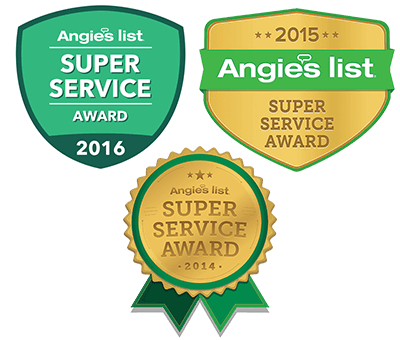 Our 3 Angies list Super Service awards.  Took everything we had to get these.