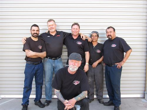 The crew of Bays Auto.  They have all been with me for over 5 years now.  Time flies.
