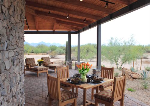 Casita Veranda, south-facing to Camelback and Mummy Mountains and Piestawa Peak