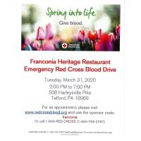 Emergency Red Cross Blood Drive