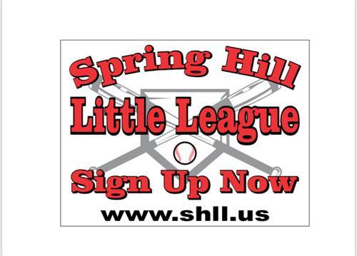 SHLL 2019 Spring baseball signups