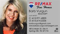 Barb Vurgun, REMAX Fine Homes