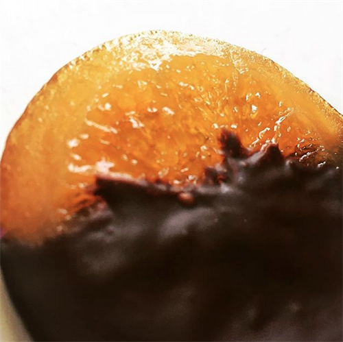 Corsican orange slices, dipped in our 70% dark chocolate - one of our favourites!