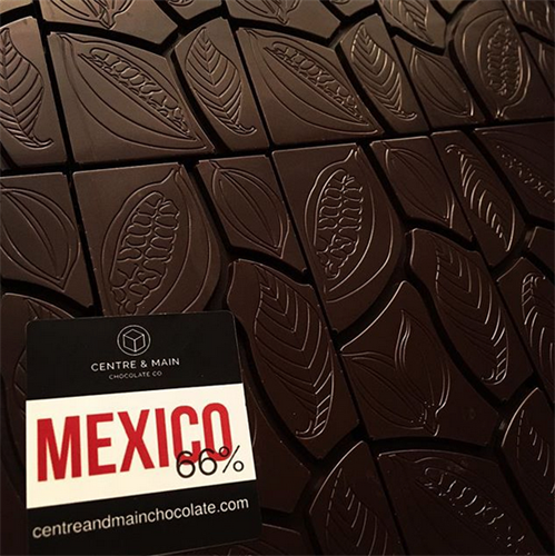 We have single origin chocolate from 11 countries, including Mexico.