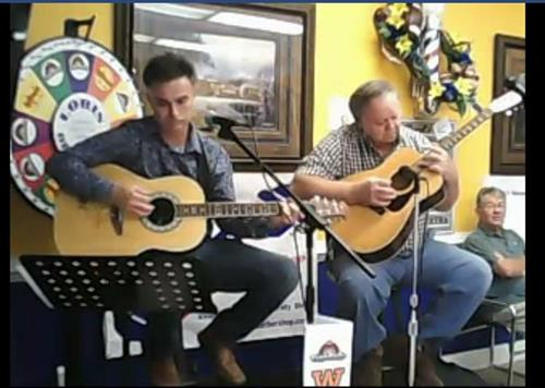 Performing on the radio and tv program, Down at the Barbershop