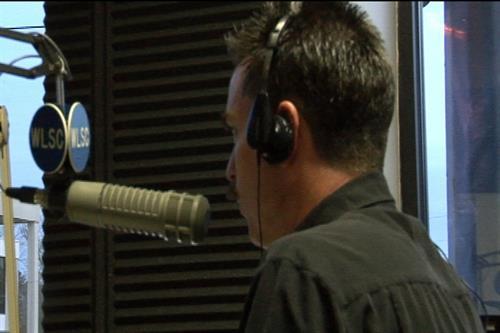 Spreading the good news on WLSC Tiger Radio