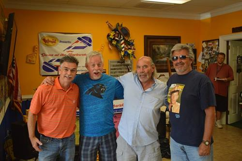 Another barbershop moment with Tim White (far right).  Tim is the host of Song of the Mountains on PBS.