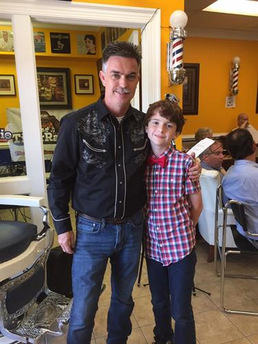 My son, Tristan helps with my barbershop broadcasts.