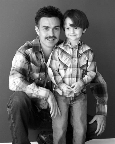 An old press photo of Jack and his son, Tristan