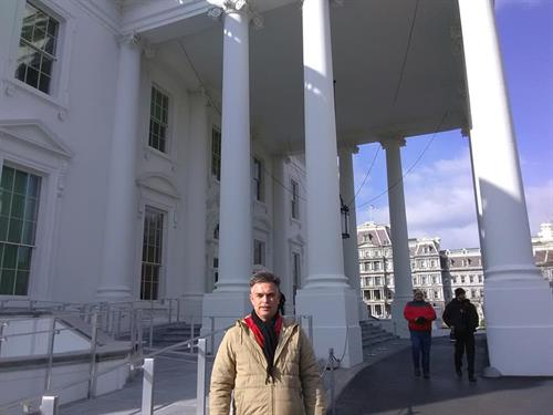 On the road at The White House.