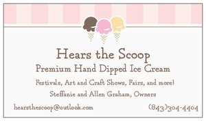 Hears the Scoop Business Card
