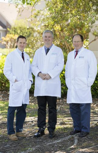 Carolina Regional Physicians (Left to Right) Dr. David Zaenger, Dr. Stephen Andrews, Dr. Patrick Francke