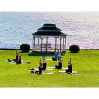 Yoga on the Lakefront with Mimosas