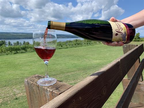 Dry reds are the perfect pairing with these beautiful views.