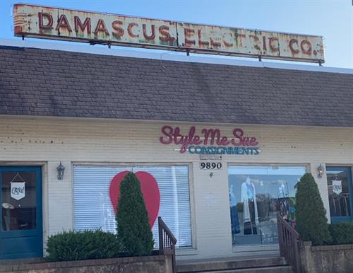 Style Me Sue Consignments is located in the historical Damascus Electric building