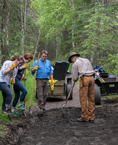 Volunteers help on trails and many other things
