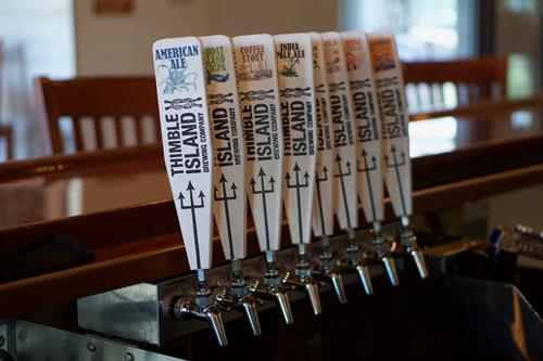 A few of our 24 tap handles