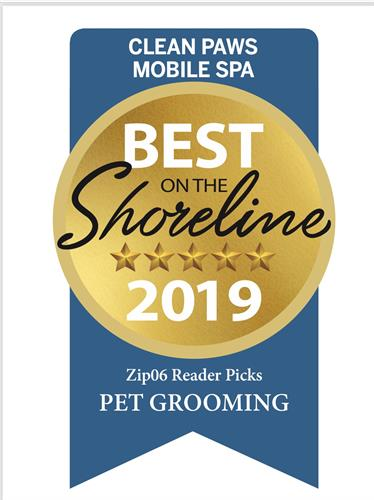 Thank you for voting us #1 Pet Groomer on the Shoreline