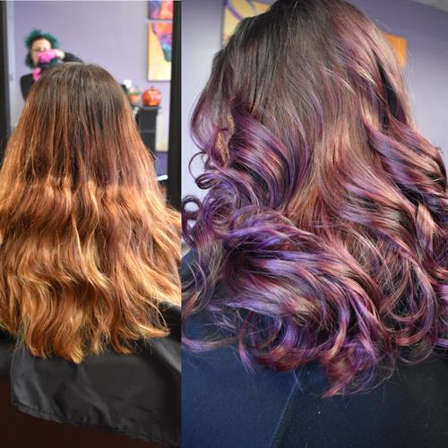 Before and after, leaving a faded color to fab!